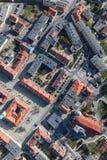Widok z lotu ptaka miast przedmie?cia zdjęcie royalty free