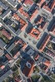 Widok z lotu ptaka miast przedmie?cia zdjęcia stock