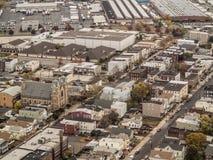 Widok z lotu ptaka miasteczko w nowym - bydło Obraz Stock