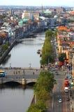 Widok z lotu ptaka miasto Zdjęcia Stock