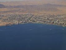 Widok Z Lotu Ptaka miasto Eilat Zdjęcia Stock