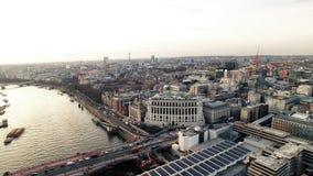 Widok Z Lotu Ptaka miasto Londyn i Blackfriars most Obraz Stock