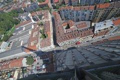 Widok z lotu ptaka miasto Turyn od wysokiego budynku Zdjęcia Stock