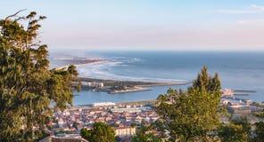 Widok z lotu ptaka miasto Viana Do Castelo w północnym Portugalia Fotografia Stock