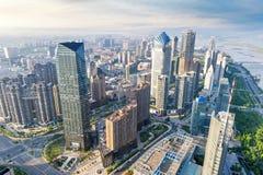 Widok z lotu ptaka miasto w Shanghai Chiny Obrazy Royalty Free