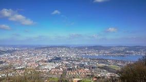 Widok z lotu ptaka miasto Zurich od Uetliberg wzgórza zbiory