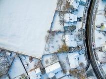 Widok z lotu ptaka mieszkaniowy sąsiedztwo Obrazy Stock