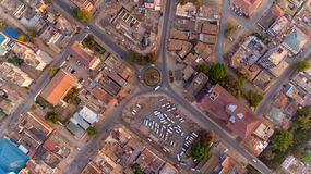 Widok z lotu ptaka Morogoro miasteczko obraz royalty free