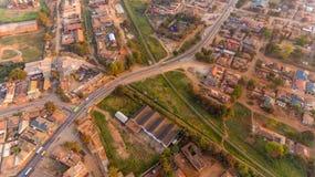 Widok z lotu ptaka Morogoro miasteczko obrazy stock