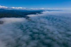 Widok Z Lotu Ptaka Morska warstwa i Północnego Kalifornia wybrzeże zdjęcie royalty free