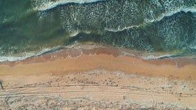 Widok z lotu ptaka morze plaża Odgórny widok zbiory