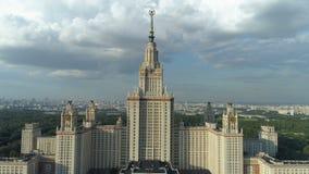 Widok z lotu ptaka Moscow stanu uniwersytet i park w Moskwa zbiory