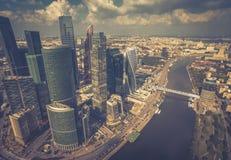 Widok z lotu ptaka Moskwa śródmieście Fotografia Royalty Free