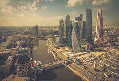 Widok z lotu ptaka Moskwa śródmieście Zdjęcie Royalty Free