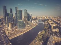 Widok z lotu ptaka Moskwa śródmieście Fotografia Stock