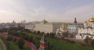 Widok z lotu ptaka Moskwa Kremlin zbiory wideo