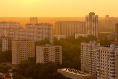 Widok z lotu ptaka Moskwa linia horyzontu Zdjęcia Stock
