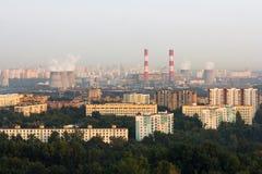 Widok z lotu ptaka Moskwa linia horyzontu Zdjęcia Royalty Free