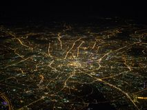 Widok z lotu ptaka Moskwa miasto obrazy royalty free