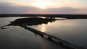 Widok z lotu ptaka Munkholm most, Dani zbiory wideo