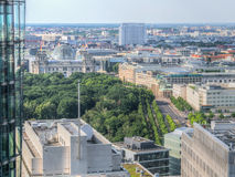 Widok z lotu ptaka na Brandenburg bramie i Reichstag obrazy royalty free