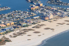 Widok Z Lotu Ptaka na Floryda plaży Obraz Stock