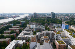 Widok z lotu ptaka na Hamburg Obrazy Royalty Free