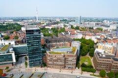 Widok z lotu ptaka na Hamburg Niemcy Obrazy Royalty Free
