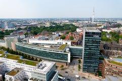 Widok z lotu ptaka na Hamburg Niemcy Zdjęcia Stock