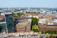 Widok z lotu ptaka na Hamburg Niemcy Fotografia Stock