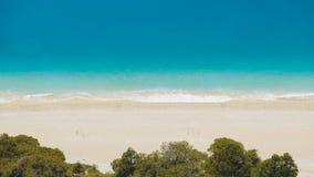 Widok z lotu ptaka na Ionian morzu w Grecja Fotografia Royalty Free