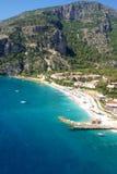 Widok z lotu ptaka na luksusowym kurorcie i morzu Obrazy Stock