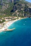 Widok z lotu ptaka na luksusowym kurorcie i morzu Obraz Stock