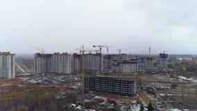 Widok z lotu ptaka na mieszkaniowego okręgu budowie zdjęcie wideo