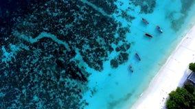 Widok z lotu ptaka na morzu zdjęcie stock