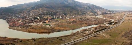 Widok z lotu ptaka na Mtskheta obrazy royalty free