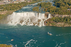 Widok Z Lotu Ptaka na Niagara Spadek od Skylon Wierza Fotografia Royalty Free