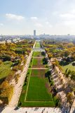 Widok z lotu ptaka na Paryskim mieście i polu Mars Fotografia Royalty Free