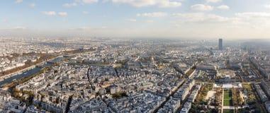 Widok z lotu ptaka na Paryskim mieście i polu Mars Zdjęcie Stock