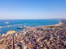 Widok z lotu ptaka na porcie Catania zdjęcia stock