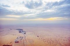 Widok Z Lotu Ptaka na pustynia krajobrazie Zdjęcie Stock