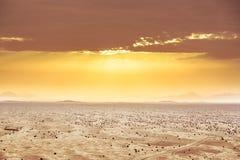 Widok Z Lotu Ptaka na pustynia krajobrazie Zdjęcia Royalty Free