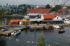 Widok z lotu ptaka na schronieniu Kristiansand, Norwegia fotografia royalty free