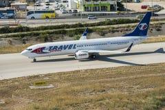 Widok z lotu ptaka na Travel Service Boeing Fotografia Royalty Free