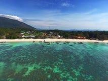 Widok z lotu ptaka na tropikalnej Koh Lipe wyspie Fotografia Royalty Free