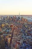 Widok z lotu ptaka na W centrum i Górnej Nowy Jork zatoce Zdjęcie Royalty Free