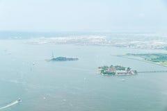 Widok z lotu ptaka na wierzch zatoce Zdjęcia Stock