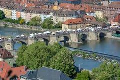 Widok z lotu ptaka na Wuerzburg z fotografia royalty free