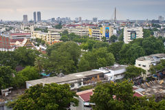 Widok z lotu ptaka nad Bangkok Obrazy Stock