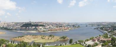 Widok z lotu ptaka nad Istanbuł Turcja Zdjęcia Stock
